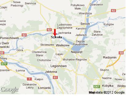 usytuowanie szkoły na mapie